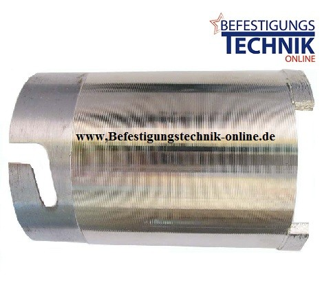 Diamant Dosensenker ⌀ 68 mm 4x Turbosegmente Beton Abrasiv UNI Bajonettverschluss Premium