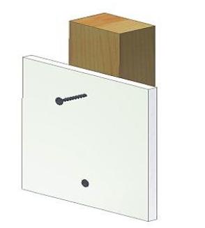 Schraubentyp-Holz