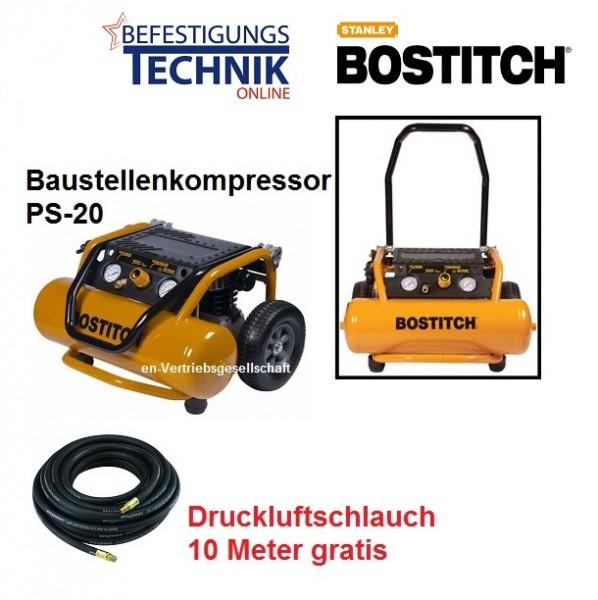 Bostitch Kompressor PS20-E (10 Bar 138L/min Abgabeleistung) 20L Kessel