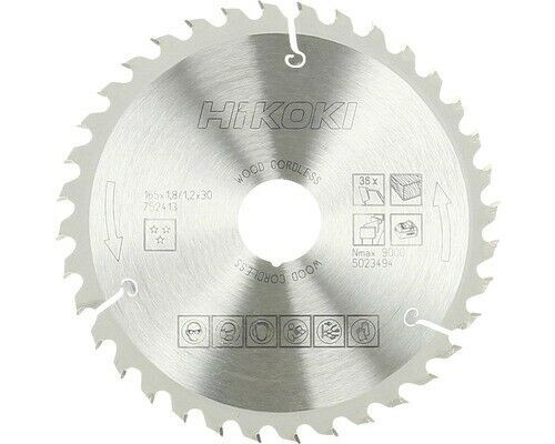 Hikoki Kreissägeblatt 165x30mm 36 Z Hartmetall 752413 für Handkreissäge C18DSL