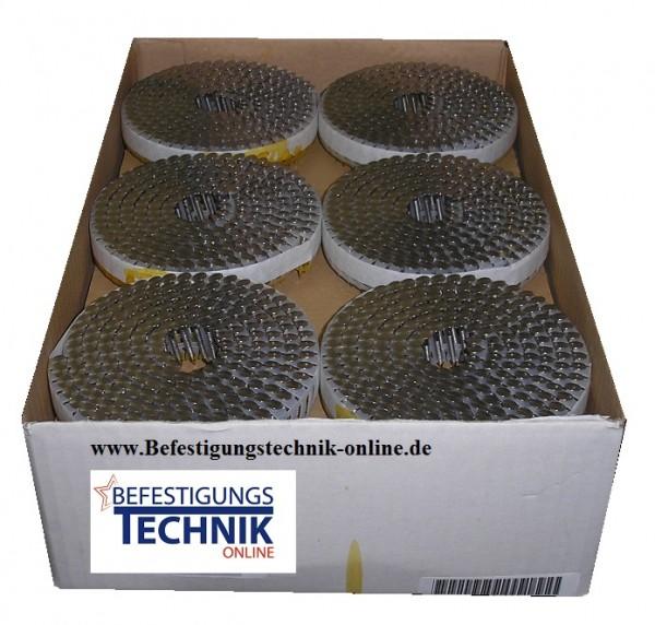 PC 2,5x35mm glatt Feuerverzinkt Haftennägel Eternitnägel Schiefernägel plastmagaziniert S.