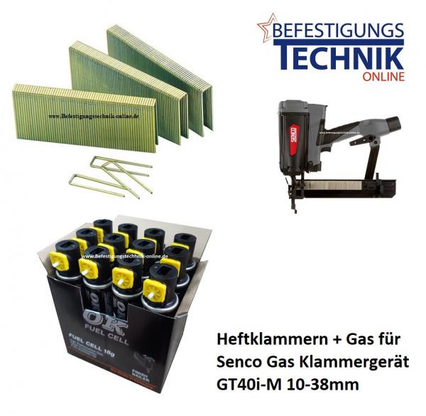 5000 Klammern 38mm verzinkt + 5x Gas für SENCO Gas Klammergerät GT40i-M KL-19.1