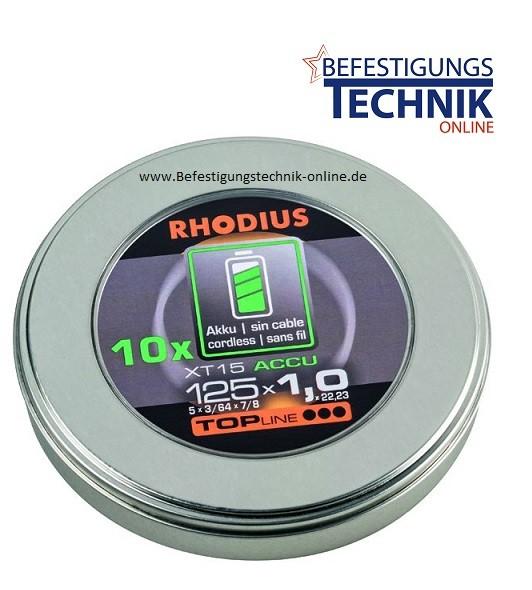 Trennscheiben XT15 ACCU 125x1,0x22,23 mm für Edelstahl / Stahl für Akku Winkelschleifer Topline