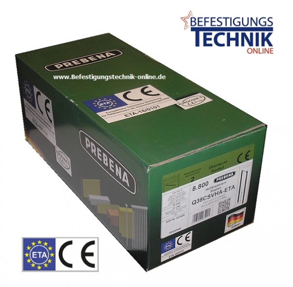5000 Klammern Q-6774 63mm CSVHA-ETA verzinkt für Prebena Senco Würth Q BeA 180 Haubold HD7900 KL-39