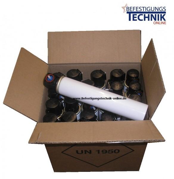 12x Gas C3 FuelCell Brennstoff für EN GT/C45 (Ø 31,5x152 mm) rotes Ventil