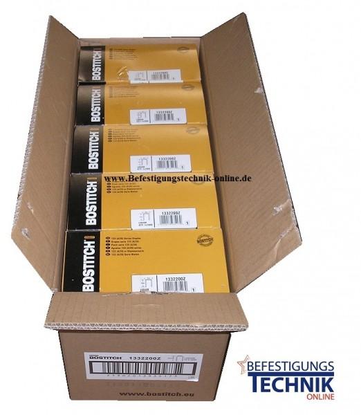 SW7437/15mm B.35mm x L.15mm Kartonverschlussklammer Verpackungsklammer verbronzt KL-08